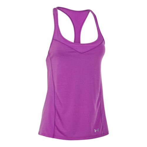 Womens Under Armour UA Stunner Perf Tanks Technical Tops - Exotic Bloom XS