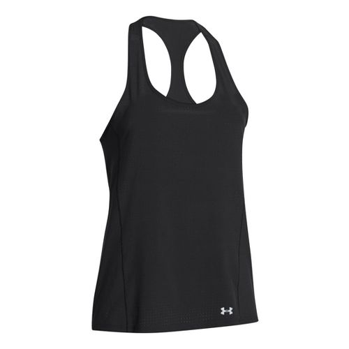 Womens Under Armour UA Stunner Perf Tanks Technical Tops - White M