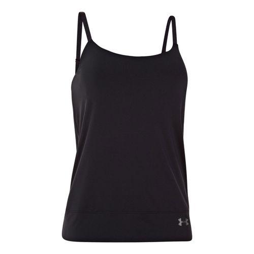 Womens Under Armour UA Essential Banded Tank Sport Top Bras - Black M