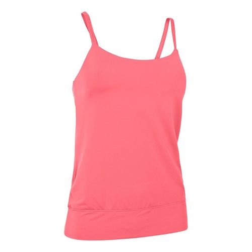 Womens Under Armour UA Essential Banded Tank Sport Top Bras - Brilliance M