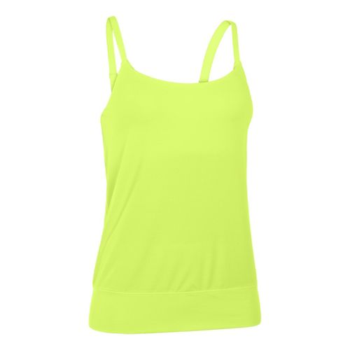 Womens Under Armour UA Essential Banded Tank Sport Top Bras - X-Ray S