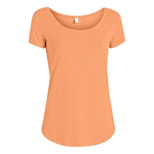 Womens Under Armour UA Studio Cross-Town T Short Sleeve Technical Tops - After Glow L ...
