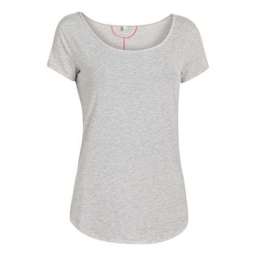 Womens Under Armour UA Studio Cross-Town T Short Sleeve Technical Tops - Silver Heather M ...