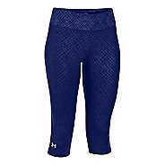 Womens Under Armour Heatgear Sonic Embossed Capri Tights