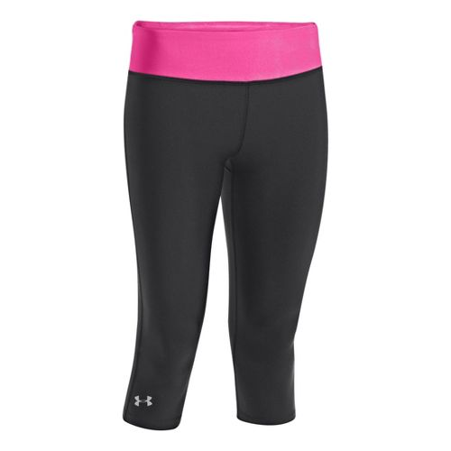 Womens Under Armour Heatgear Sonic Capri Tights - Black/Chaos L