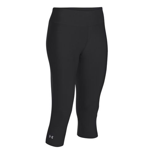 Womens Under Armour Heatgear Sonic Capri Tights - Black/Graphite XL