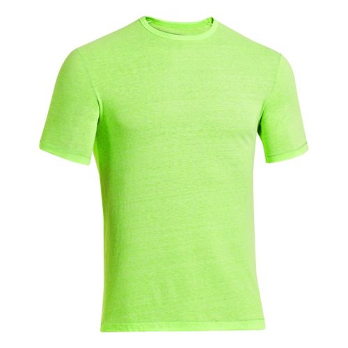 Mens Under Armour Charged Cotton Tri-Blend Crew T Short Sleeve Technical Tops - Hyper Green ...