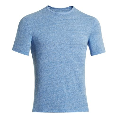 Mens Under Armour Charged Cotton Tri-Blend Crew T Short Sleeve Technical Tops - Superior Blue ...