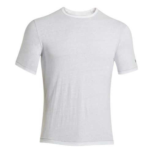 Mens Under Armour Charged Cotton Tri-Blend Crew T Short Sleeve Technical Tops - White XXL ...