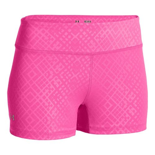 Womens Under Armour Heatgear Sonic Printed Shorty Fitted Shorts - Chaos XL
