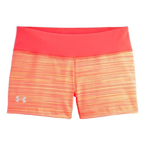 Womens Under Armour Heatgear Sonic Printed Shorty Fitted Shorts - Neo Pulse S