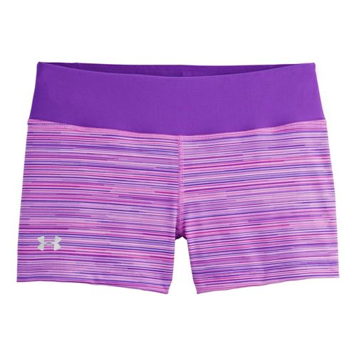 Womens Under Armour Heatgear Sonic Printed Shorty Fitted Shorts - Pride XS