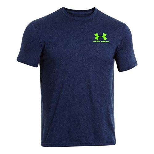 Mens Under Armour Legacy Logo T Short Sleeve Technical Tops - Academy L