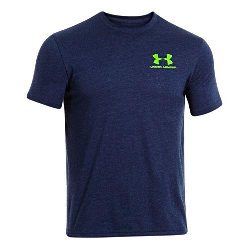 Mens Under Armour Legacy Logo T Short Sleeve Technical Tops - Academy XXL