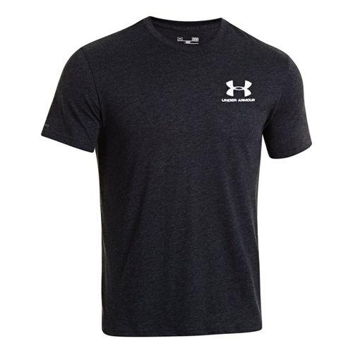 Mens Under Armour Legacy Logo T Short Sleeve Technical Tops - Black L