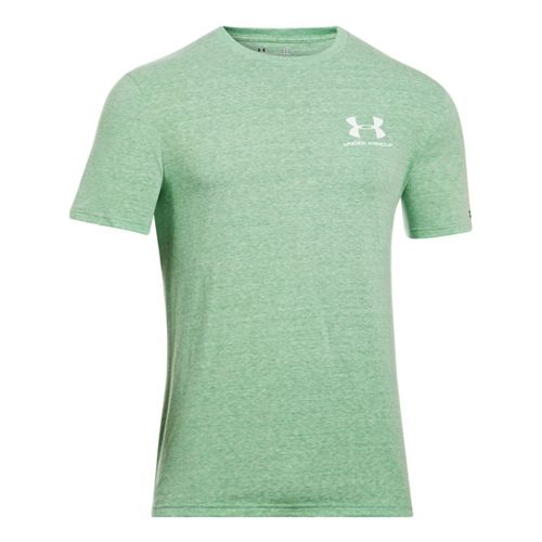 Mens Under Armour Legacy Logo T Short Sleeve Technical Tops - Feisty L