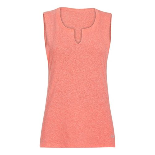 Womens Under Armour UA Charged Cotton Legacy Crew Sleeveless Technical Tops - Brilliance XS