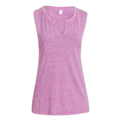 Womens Under Armour UA Charged Cotton Legacy Crew Sleeveless Technical Tops - Exotic Bloom L ...