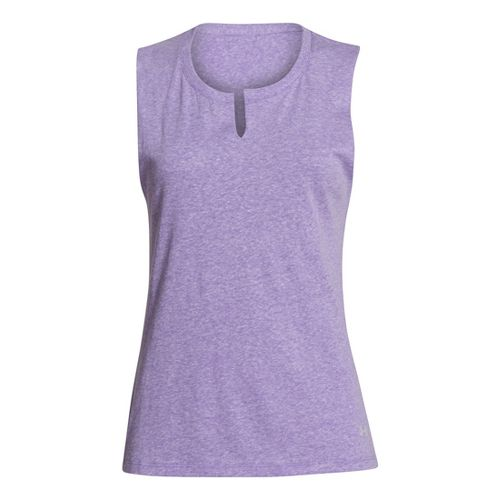 Womens Under Armour UA Charged Cotton Legacy Crew Sleeveless Technical Tops - Pride L