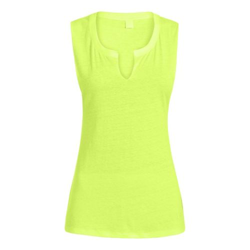 Womens Under Armour UA Charged Cotton Legacy Crew Sleeveless Technical Tops - X-Ray L