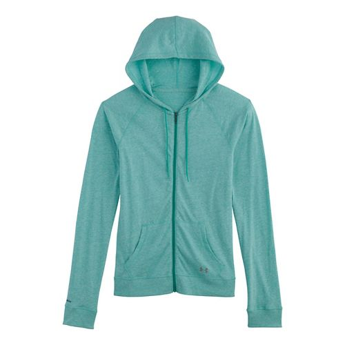 Womens Under Armour UA Charged Cotton Legacy Full Zip Hoody Warm-Up Hooded Jackets - Aqueduct ...