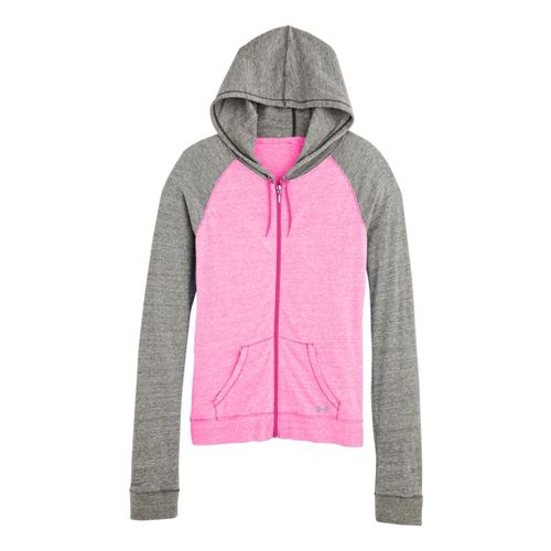 Womens Under Armour UA Charged Cotton Legacy Full Zip Hoody Warm-Up Hooded Jackets - Chaos ...