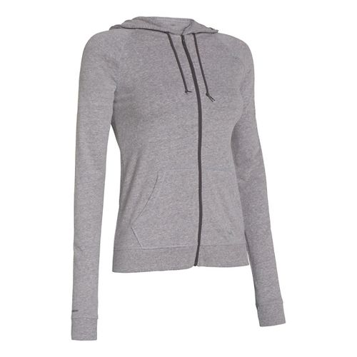 Womens Under Armour UA Charged Cotton Legacy Full Zip Hoody Warm-Up Hooded Jackets - ...