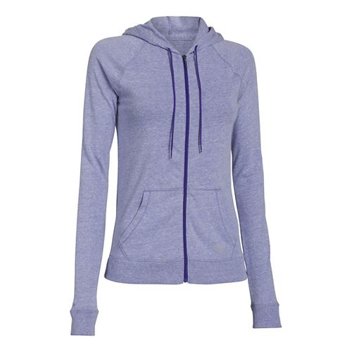 Womens Under Armour UA Charged Cotton Legacy Full Zip Hoody Warm-Up Hooded Jackets - Siberian ...