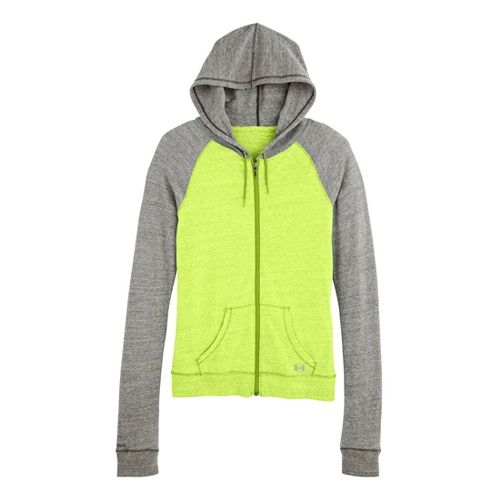 Womens Under Armour UA Charged Cotton Legacy Full Zip Hoody Warm-Up Hooded Jackets - X-Ray ...
