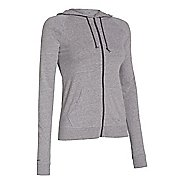 Womens Under Armour UA Charged Cotton Legacy Full Zip Hoody Warm-Up Hooded Jackets