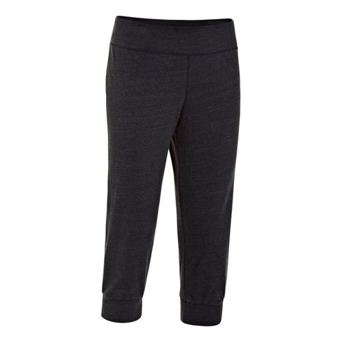Womens Under Armour UA Charged Cotton Legacy Capri Pants - Black L