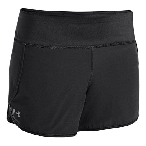 Womens Under Armour UA Get Going Lined Shorts - Black/Black XL