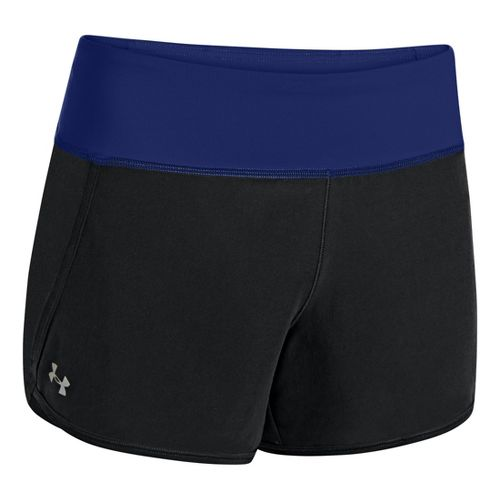 Womens Under Armour UA Get Going Lined Shorts - Black/Caspian L