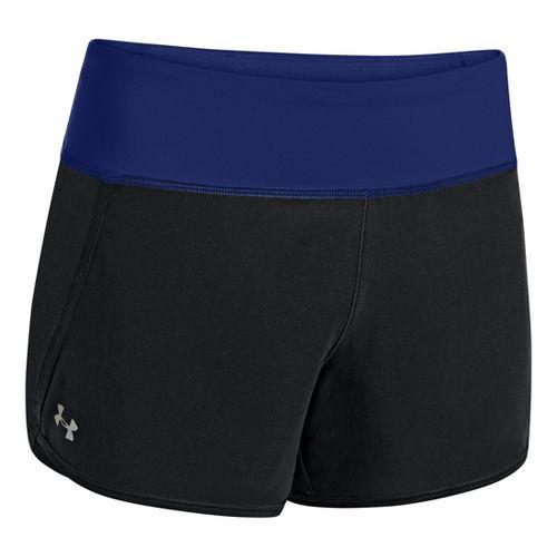 Womens Under Armour UA Get Going Lined Shorts - Black/Caspian S