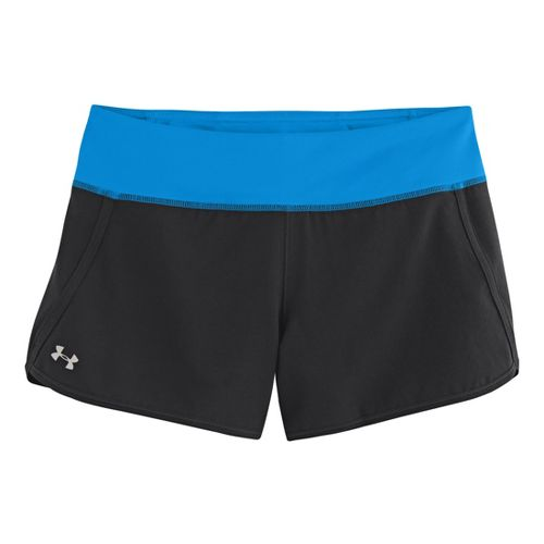 Womens Under Armour UA Get Going Lined Shorts - Black/Electric Blue XS