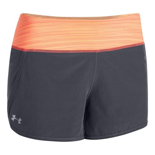 Womens Under Armour UA Get Going Lined Shorts - Lead/After Glow L