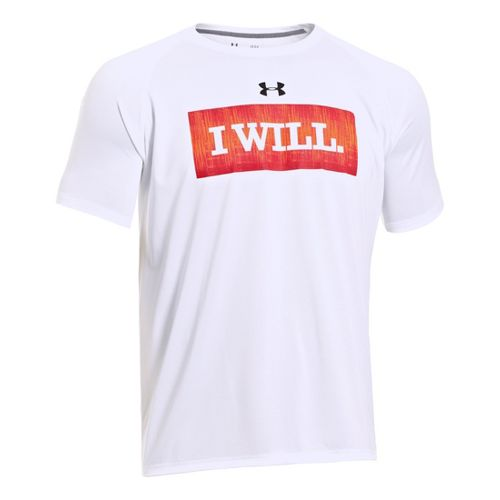 Mens Under Armour I Will T Short Sleeve Technical Tops - White S