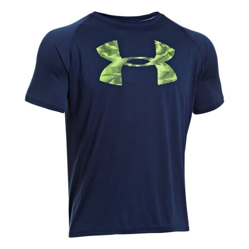 Mens Under Armour Reverb Logo T Short Sleeve Technical Tops - Academy XXL