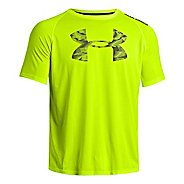 Mens Under Armour Reverb Logo T Short Sleeve Technical Tops