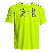 Mens Under Armour Reverb Logo T Short Sleeve Technical Tops