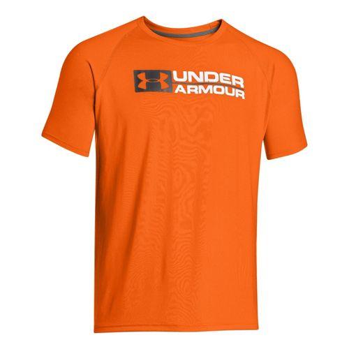 Mens Under Armour Lockdown T Short Sleeve Technical Tops - Blaze Orange L