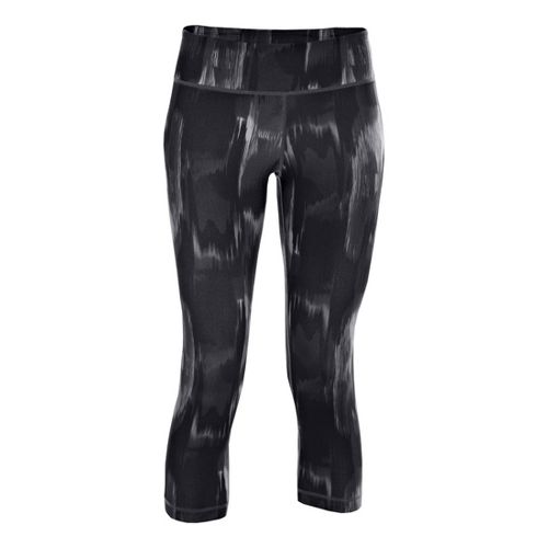 Womens Under Armour UA Perfect Printed Capri Tights - Black XS