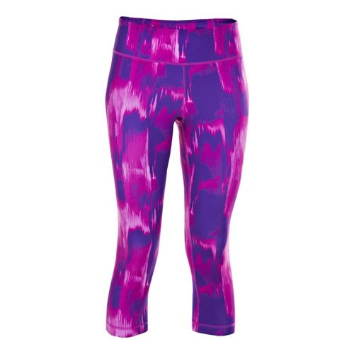 Womens Under Armour UA Perfect Printed Capri Tights - Pride S