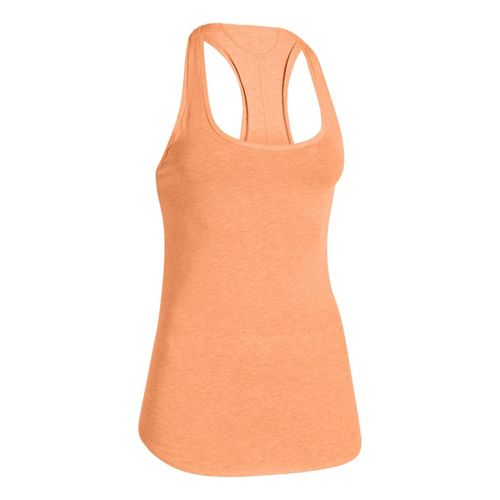 Womens Under Armour UA Studio Cross-Town Tanks Technical Tops - After Glow L