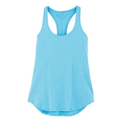Womens Under Armour UA Studio Cross-Town Tanks Technical Tops - Electric Blue M