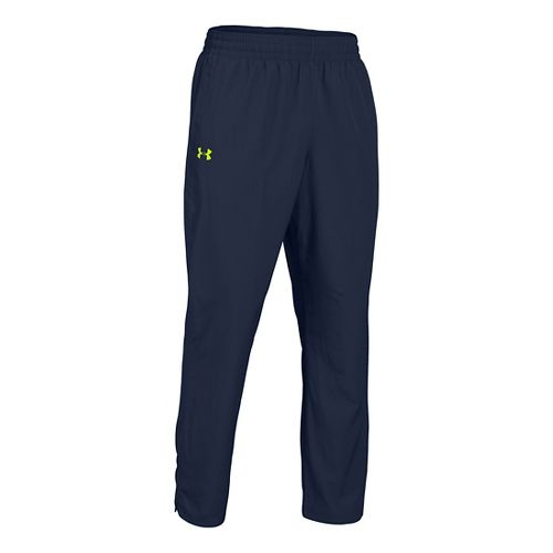 Mens Under Armour Vital Woven Full Length Pants - Academy/High Vis Yellow M