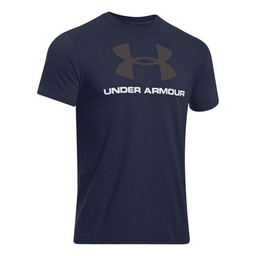 Mens Under Armour Sportstyle Logo T Short Sleeve Non-Technical Tops - Midnight Navy XXL