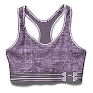 Womens Under Armour UA Mid Printed Sports Bras - Cloud Grey S