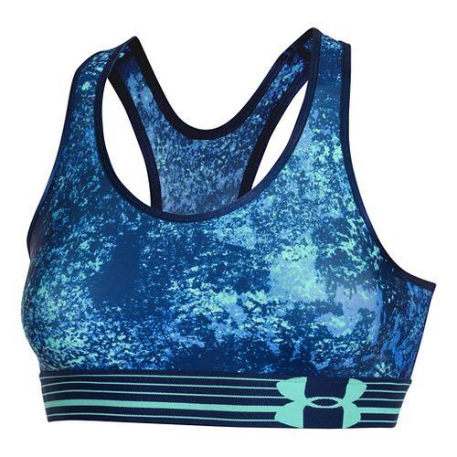 Womens Under Armour UA Still Gotta Have It Printed Sports Bras - Academy/Academy XL