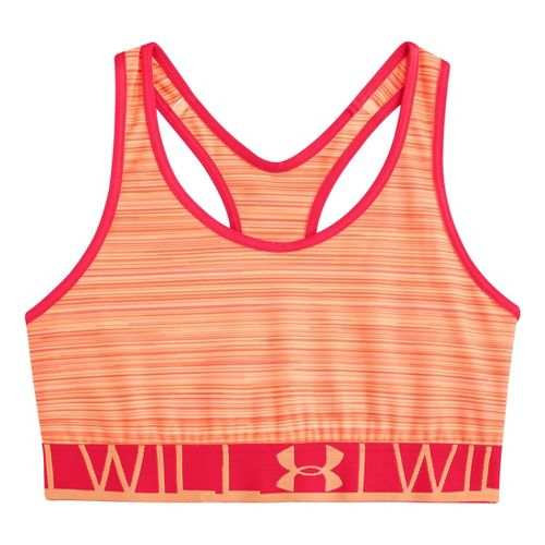 Womens Under Armour UA Still Gotta Have It Printed Sports Bras - After Glow L ...